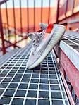 Женские кроссовки Adidas Yeezy Boost 350 V2 Tail Light (серые) К2770 качественные крутые обувь, фото 7