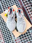 Женские кроссовки Adidas Yeezy Boost 350 V2 Tail Light (серые) К2770 качественные крутые обувь, фото 8