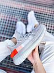 Женские кроссовки Adidas Yeezy Boost 350 V2 Tail Light (серые) К2770 качественные крутые обувь, фото 9