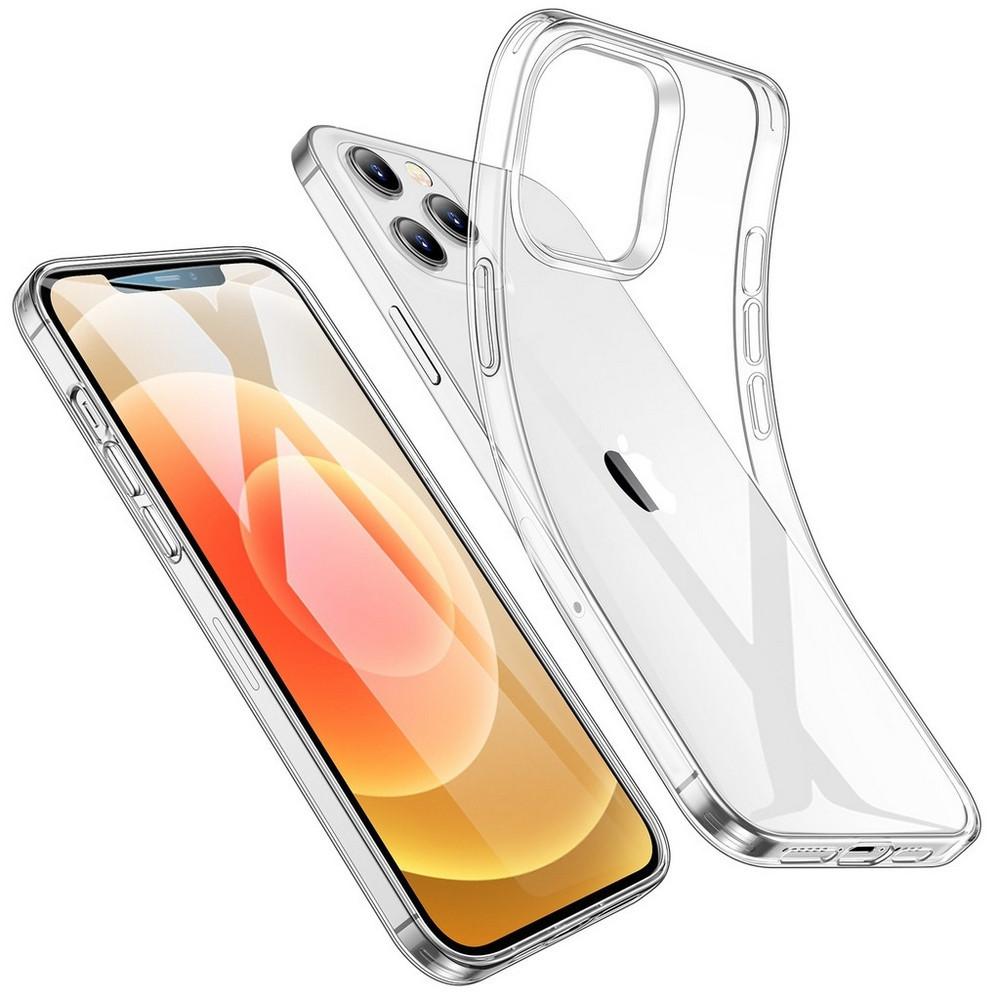 Силиконовый чехол накладка iPhone 12 Mini прозрачный