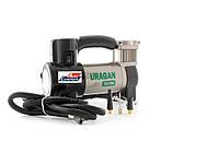 Автомобильный компрессор URAGAN 90190, автокомпрессор с манометром