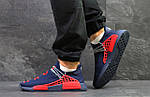 Чоловічі кросівки Adidas NMD Human RACE (сині з червоним) B10522 спортивні якісні кроси, фото 2