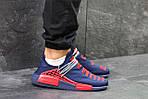 Чоловічі кросівки Adidas NMD Human RACE (сині з червоним) B10522 спортивні якісні кроси, фото 5