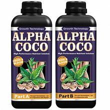 Комплект удобрений для кокосового субстрата Growth Technology Alpha Coco A&B 2 по 1 л