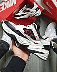 Чоловічі кросівки Nike M2 Tekno (біло-чорно-червоні) якісна весняна взуття KS 1525, фото 2