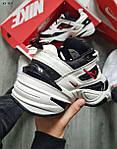 Чоловічі кросівки Nike M2 Tekno (біло-чорно-червоні) якісна весняна взуття KS 1525, фото 3