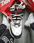 Чоловічі кросівки Nike M2 Tekno (біло-чорно-червоні) якісна весняна взуття KS 1525, фото 6