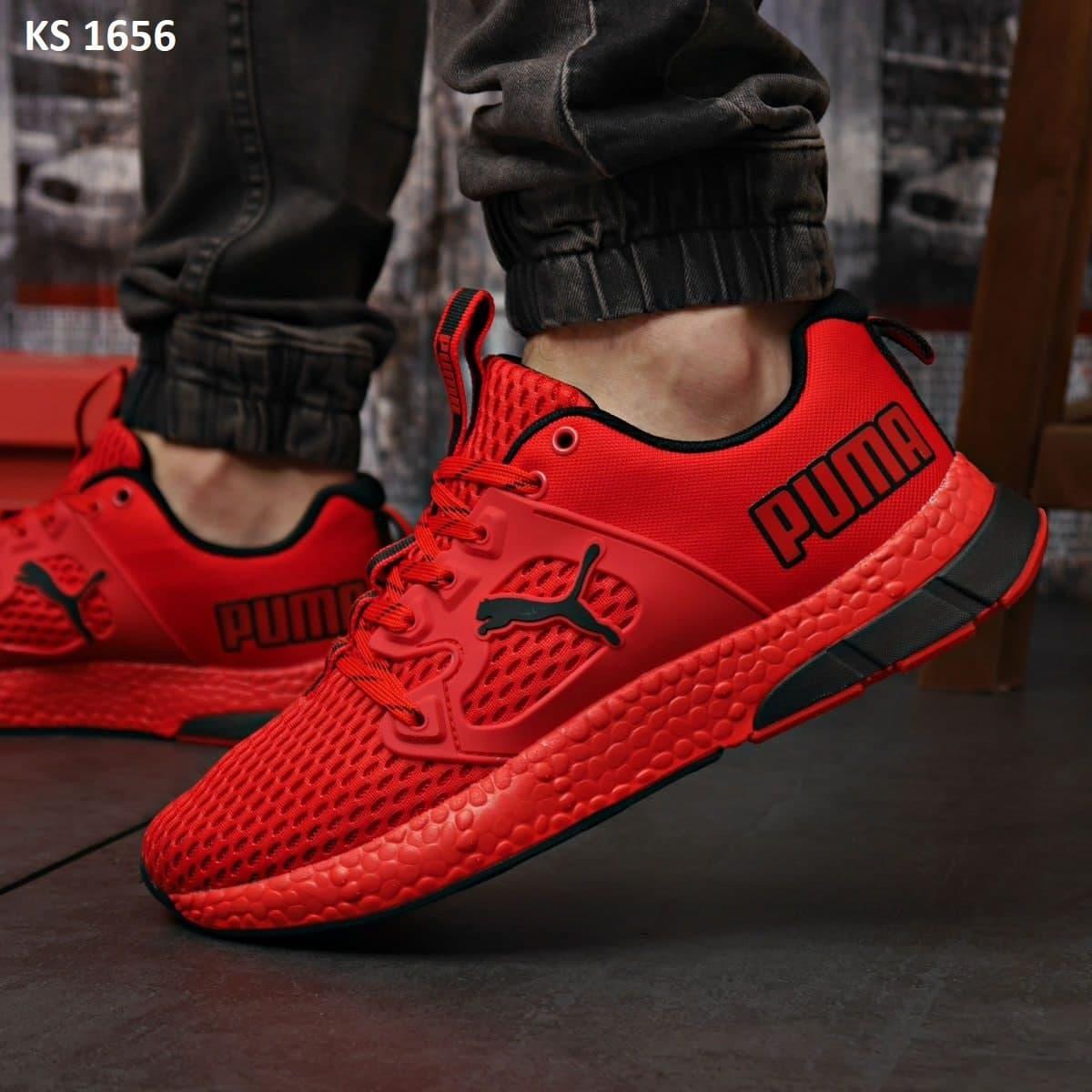 Чоловічі кросівки Puma LQDCELL (червоні) KS 1656 демісезонна спортивне взуття