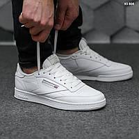 Мужские кроссовки Reebok Classic Club C (белые) KS 804 крутая легкая обувь для парней
