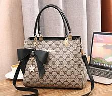 Модна жіноча міні сумочка з брелоком через плече, маленька сумка для дівчат еко шкіра