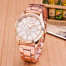 Модные женские часы Michael Kors качественные реплика золотистые серебристые Розовый