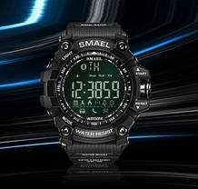 Оригинальные мужские спортивные часы SMAEL 1617 Bluetooth smart watch, наручные спорт часы умные водостойкие