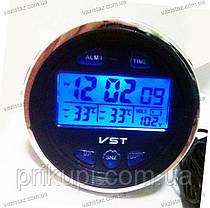 Часы - термометр - вольтметр VST 7042V (ВАЗ 2106-2107), фото 3