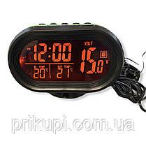 Часы - термометр - вольтметр VST - 7009V (зел/оранж), фото 2