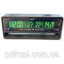Годинник - термометр - вольтметр VST 7010V зелена/синя підсвітка, фото 2