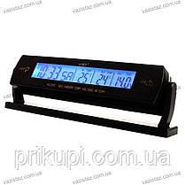 Годинник - термометр - вольтметр VST - 7013V / 2 підсвічування (синій/помаранчевий), фото 2