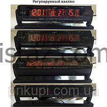 Часы - термометр - вольтметр VST - 7013V / 2 подсветки (синий/оранжевый), фото 3