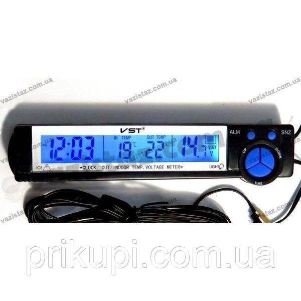 Годинник-термометр-вольтметр VST - 7043V