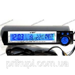 Годинник-термометр-вольтметр VST - 7043V, фото 2