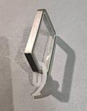 Карниз для штор металевий ЗАГЛУШКА однорядний Квадро 20*20мм 1.6 м Сатин нікель, фото 4