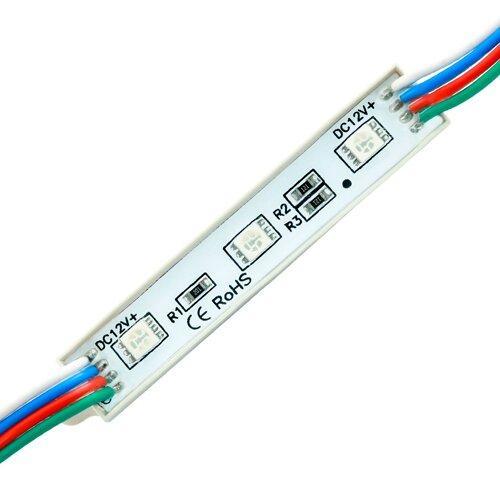 Светодиодный модуль BRT 5050-3 led W 0.72W RGB, 12В, IP65