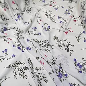 Ткань штапель принт полевые цветочки