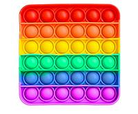 Pop It (поп ит) сенсорная игрушка антистресс, радужный квадрат, фото 1