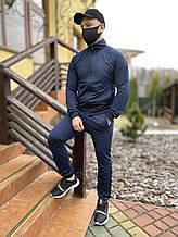 Спортивний костюм чоловічий Puma темно-синій, якісний костюм для чоловіка весняний осінній річний пума