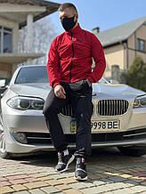 Спортивний костюм чоловічий Puma, спортивні штани + спортивна кофта пума весна осінь червоно-чорний L