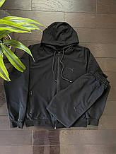Спортивний чоловічий костюм Puma люкс копія, спортивні штани + кофта Пума чорний