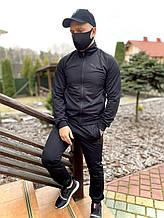 Спортивний костюм чоловічий Puma репліка, якісний костюм для чоловіка весняний осінній річний пума чорний