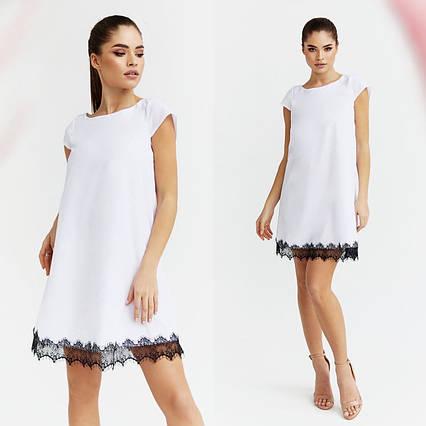 """Летнее нарядное женское платье до больших размеров 2031 """"Софт Мини Кружево"""" в расцветках"""