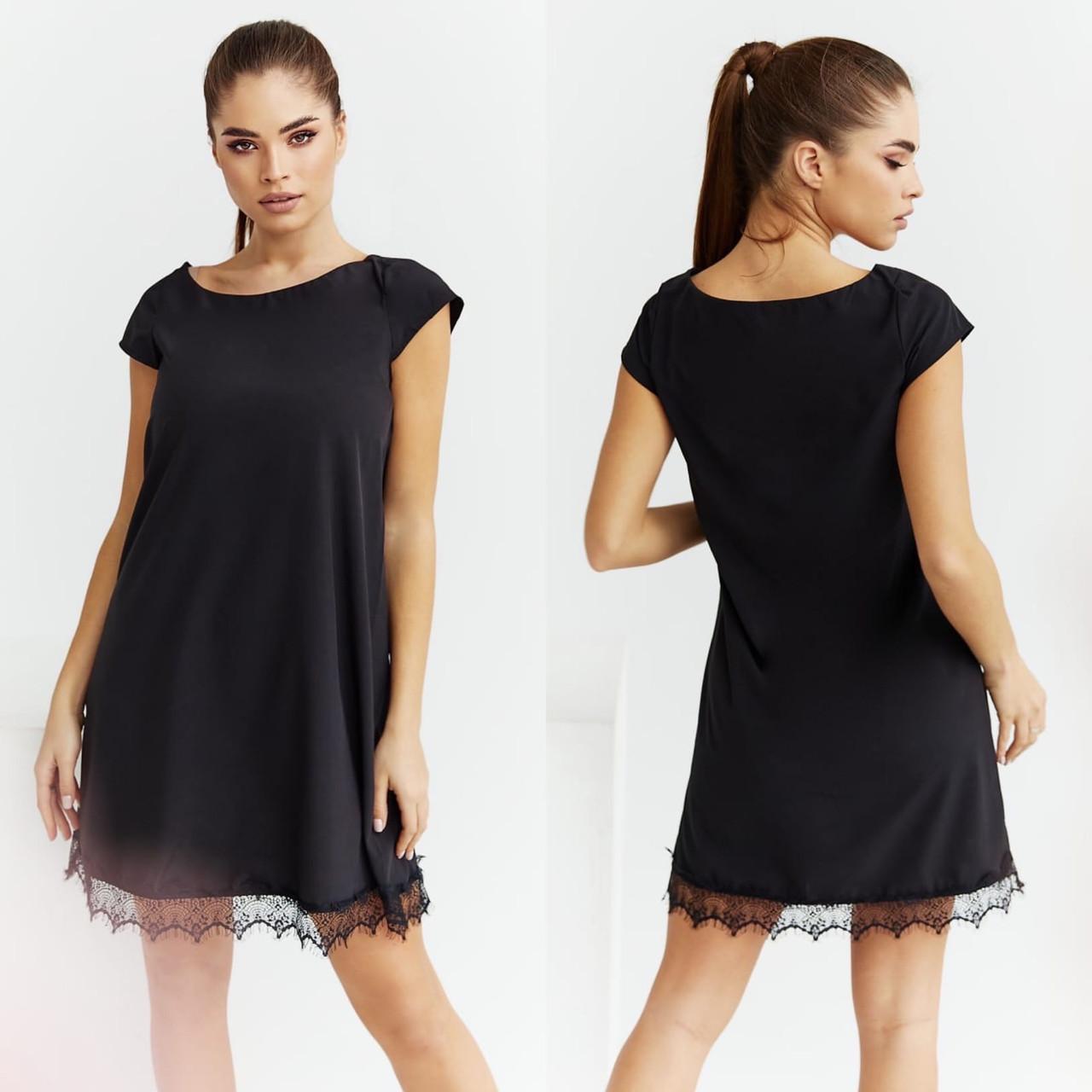 """Літнє жіноче плаття нарядне до великих розмірів 2031 """"Софт Міні Мереживо"""" в кольорах"""
