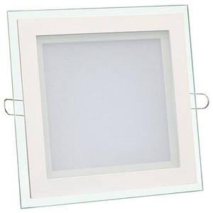 Світильник світлодіодний Biom GL-S6 W 6Вт квадратний білий (LF-6)