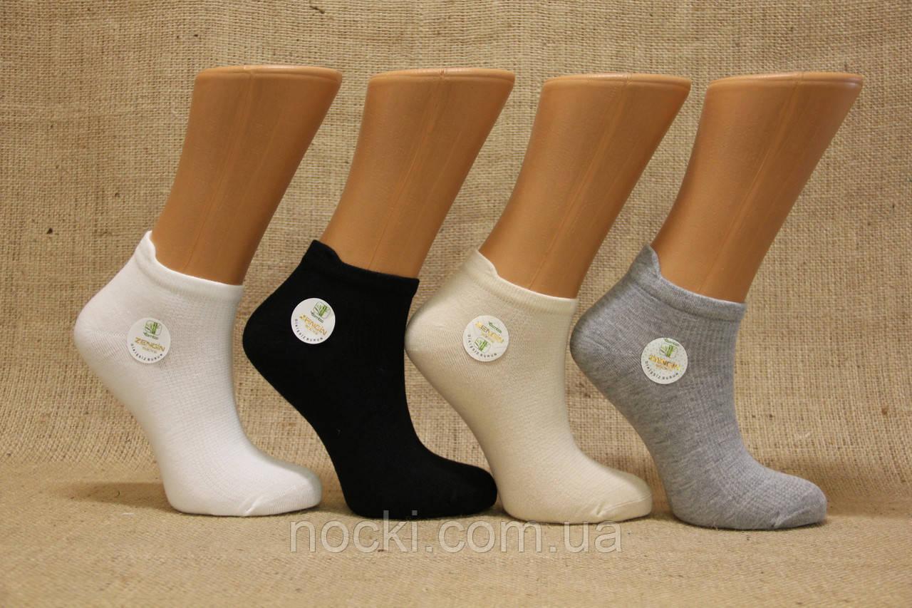 Женские носки короткие с бамбука в сеточку ZG 36-40 ассорти
