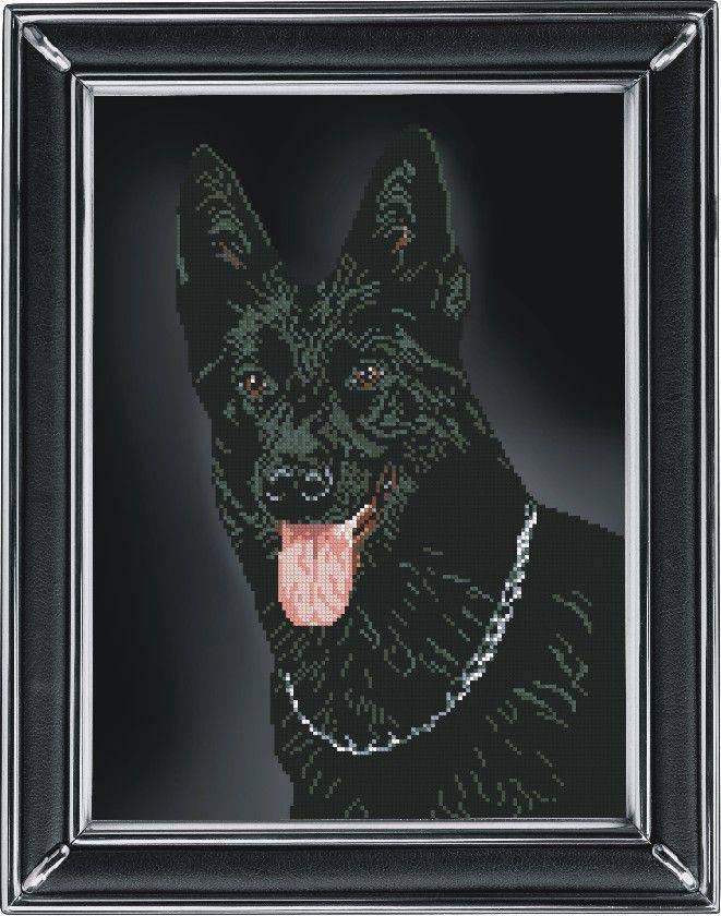 Набір для вишивання Краса і творчість Вівчарка чорна (90811)