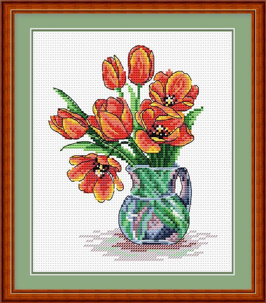 Набор для вышивания Жар-птица Весенние тюльпаны (М-089)