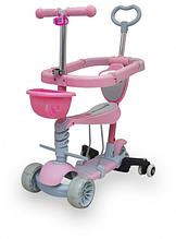 Детский трехколесный Самокат 5 в 1 Maraton Sigma Розовый