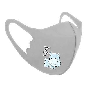 Захисна маска Pitta Black Pitta Grey Hippo PC-G, розмір: дитячий, сіра