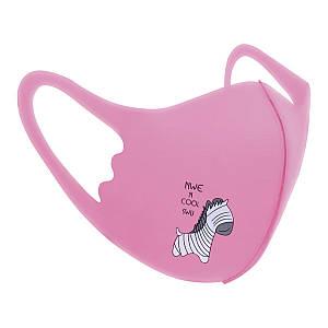 Захисна маска Pitta Pink Zebra PC-P, розмір: дитячий, рожева