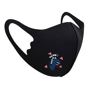Захисна маска Pitta Black Dino PC-BD, розмір: дитячий, чорна