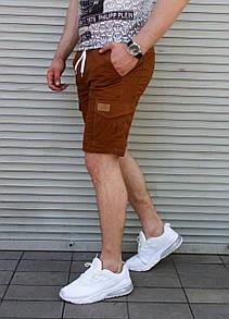 Мужские шорты с накладными карманами
