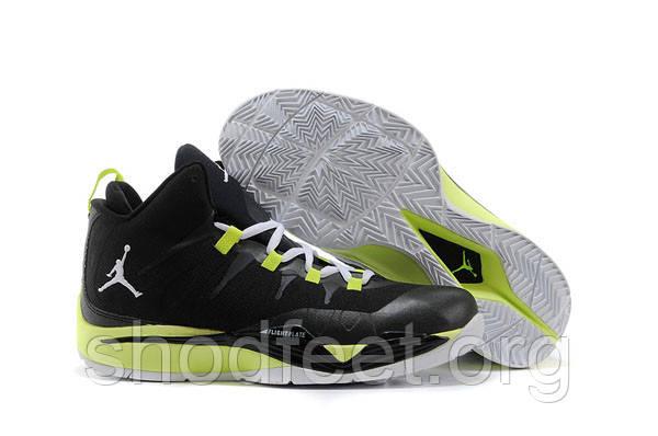 Jordan Super Fly 2X Black Fluorescent Green