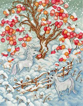 Набор для вышивания М.П.Студия Сказка зимних единорогов (НВ-626)