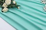 Отрез сатина, цвет насыщено-мятный, ширина 240 см, размер 65*240 см, фото 3