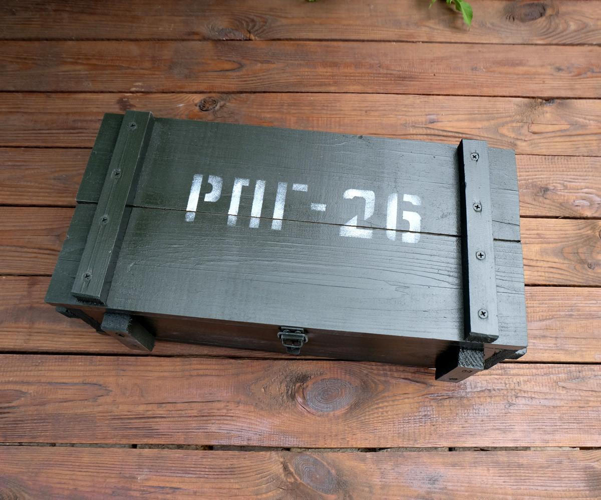 Мина в ящике от РПГ-26 Инерт - набор для алкоголя для военного