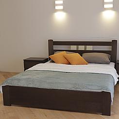 Кровать деревянная полуторная Геракл с низким изножьем (массив бука)