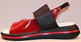 Дитячі яскраві босоніжки з натуральної шкіри від виробника модель ДЖ21011, фото 2