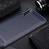 Силиконовый противоударный чехол Polished Carbon для Samsung Galaxy A50 (A505F) / A50s / A30s, фото 3