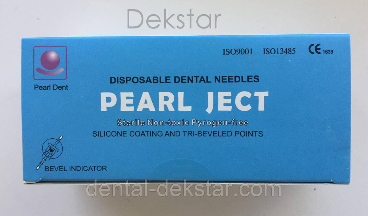 Иглы cтоматологичеcкие каpпульные PEARL JECT ( 100 шт ), METRIC ( Е 0,4*35 мм ) голубые
